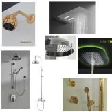 Armatur für Dusche, Regenkopfbrause, Handbrause, Duschstange, Thermostataramtur, Unterputzarmatur