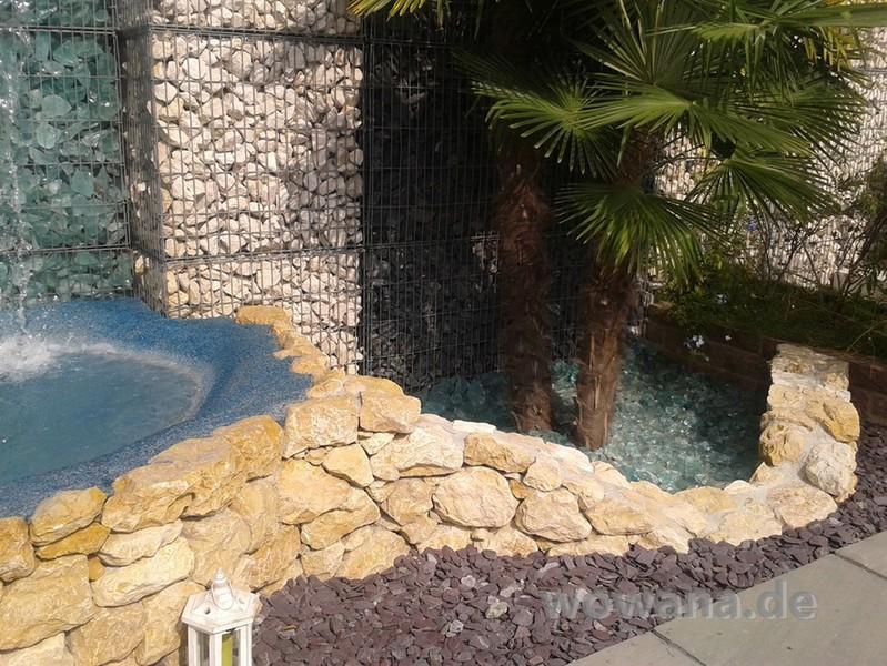 Granit marmor rosa beta carrara bianco for Gartenteich umrandung