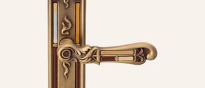 Vintage Tiffany Vetro Design Brüniert Einsätze braun-beige