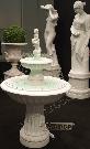 Brunnen Fontane Kunstmarmor weiß