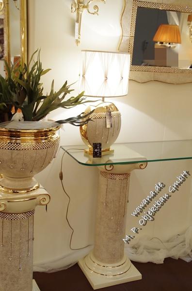 Edle s ulen aus keramik in unterschiedlichen gr en zur for Edle dekoration