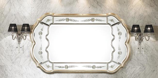 Spiegel kristall glasrahmen badspiegel kosmetikspiegel - Spiegel mit spiegelrahmen ...