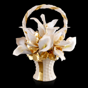 Wohnraum Accessoire - Korb Keramik Blumenvase