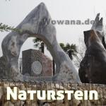 Naturstein Wowana, Bodenornament Stein, Maßanfertigung Naturstein Piesau