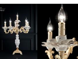 Serie Merica - Tischlampe mit porzellan